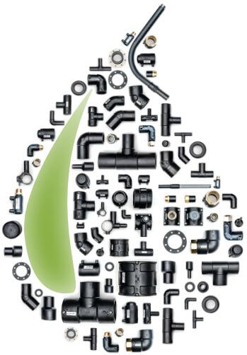 raccordi per tubi in polietilene per acqua